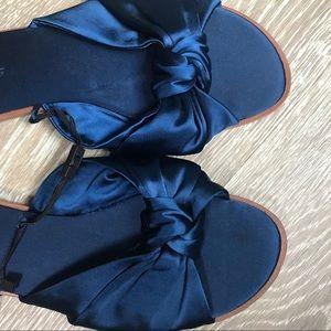 Zara Navy Blue Sandals
